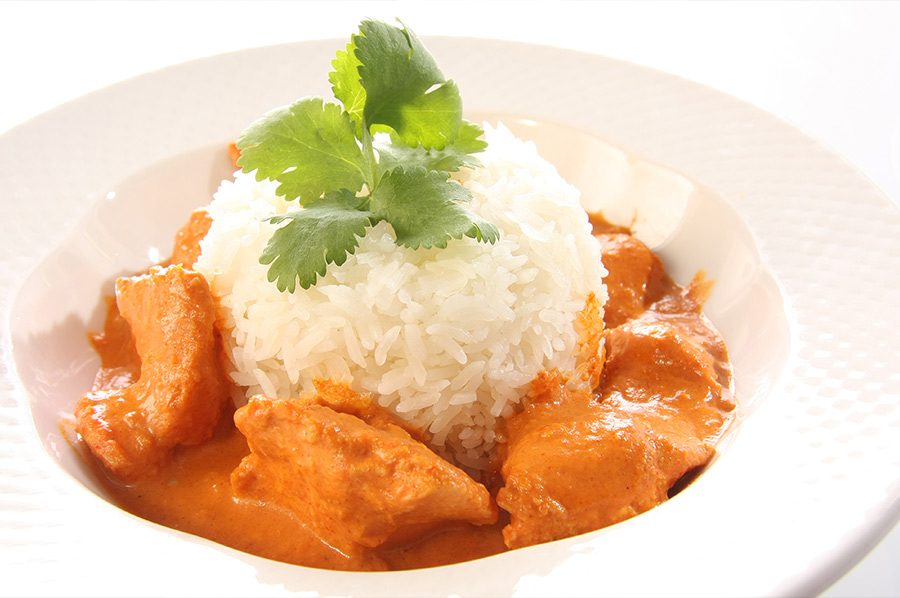 Chicken Curry and Rice Polash Indian Takeaway DA1
