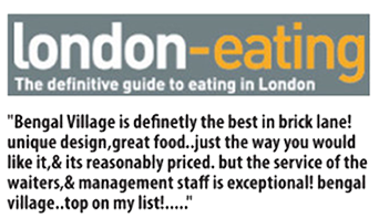 London Eating Review Bengal Village At E1
