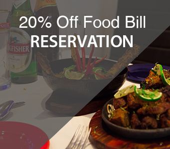 Reserve A Table 20 percent off food bill bengal villagee E1