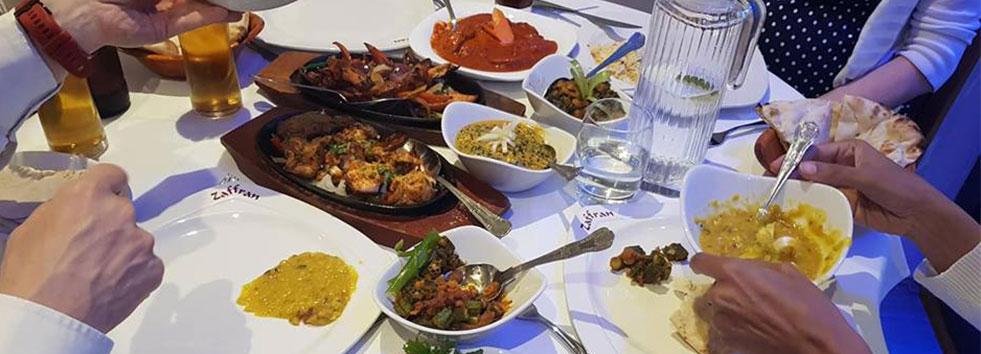 indian food at Zaffran One AL1