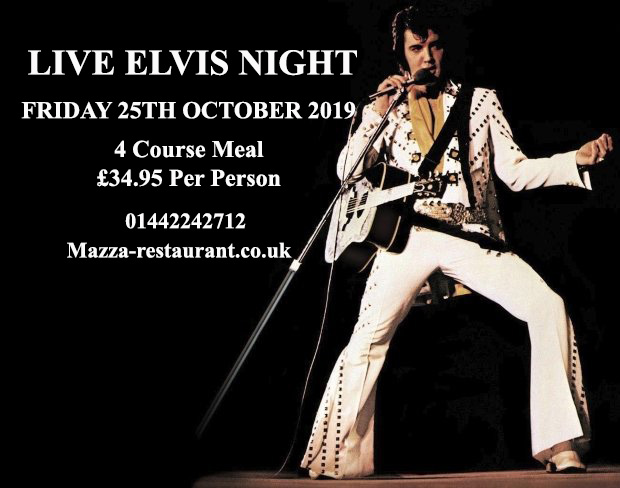 Live Elvis Night mazza restaurant hp1