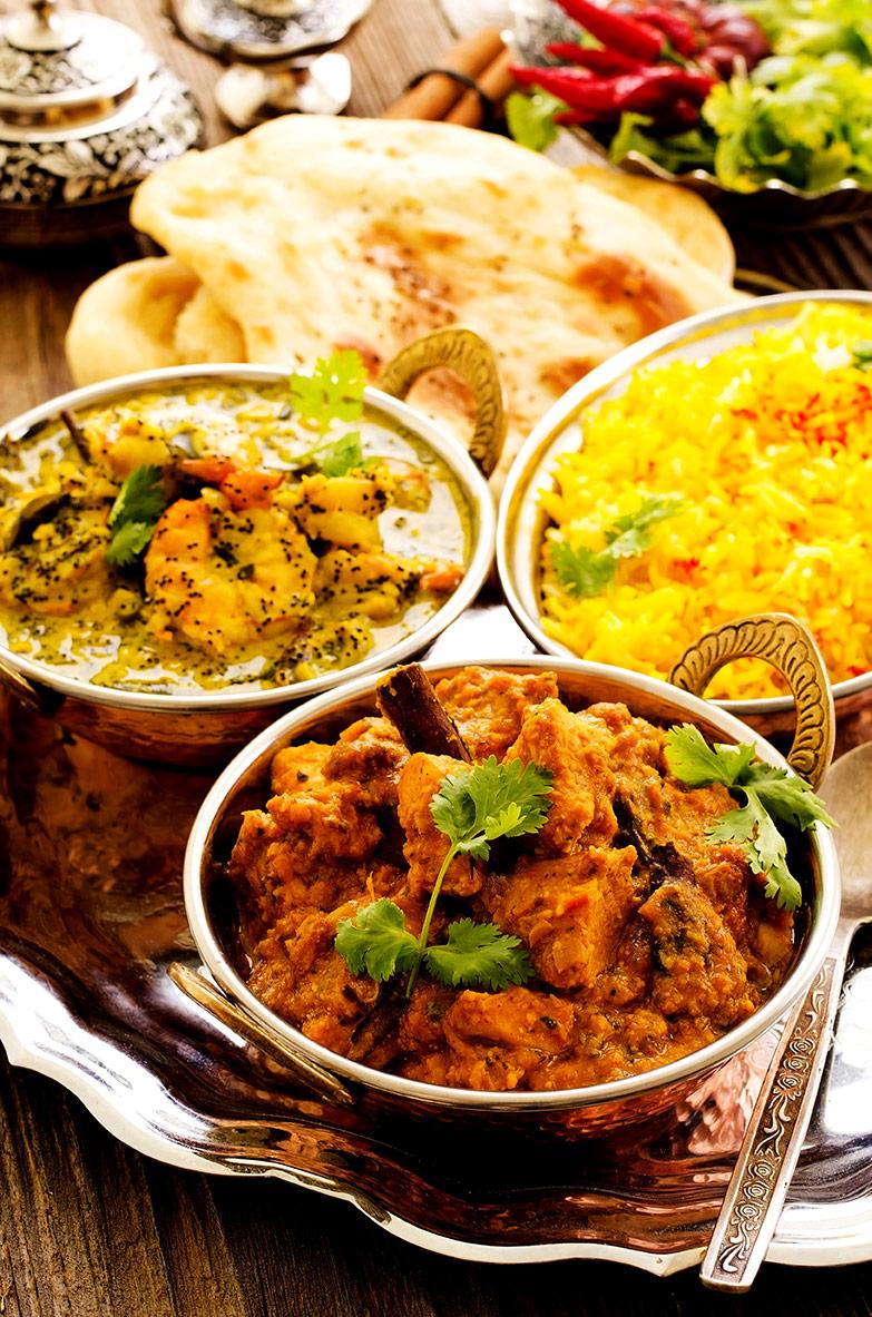 Takeaway thali curry the village spice al2