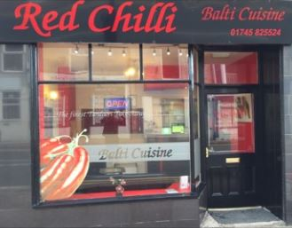Takeaway front view red chilli LL22