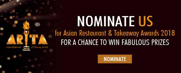 Nominate Aroma Contemporary Indian cuisine ARTA Awards 2018
